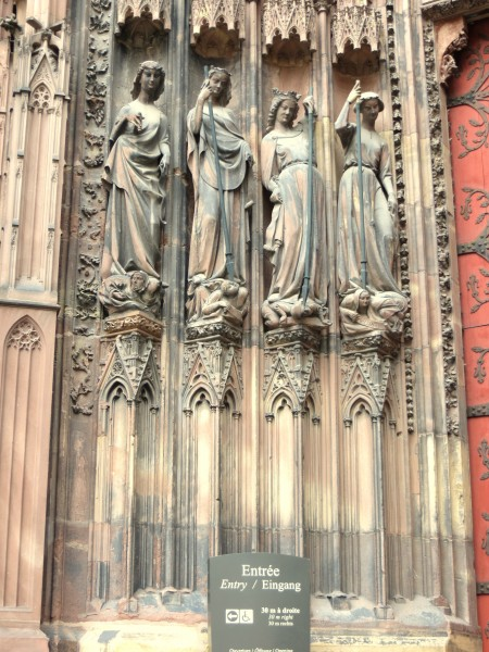 4 -late gothic statues