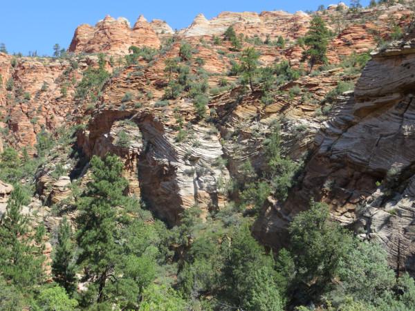 layered rocks, Zion