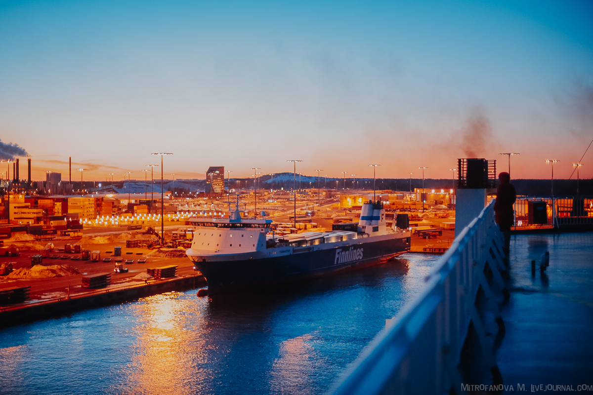 Паром Finnlines из Финляндии в Германию