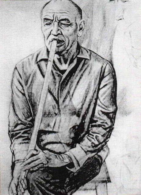 Ахмат Лутфуллин. Кураист Рахматулла Буляканов. 1978.