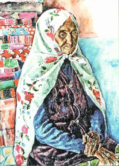 А. Лутфуллин. Башкирка из Бурангулово. 1980.