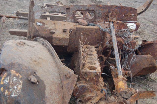 6 разбитый грузовик войск СС найденный под Ростовом ПО Миус Фронт
