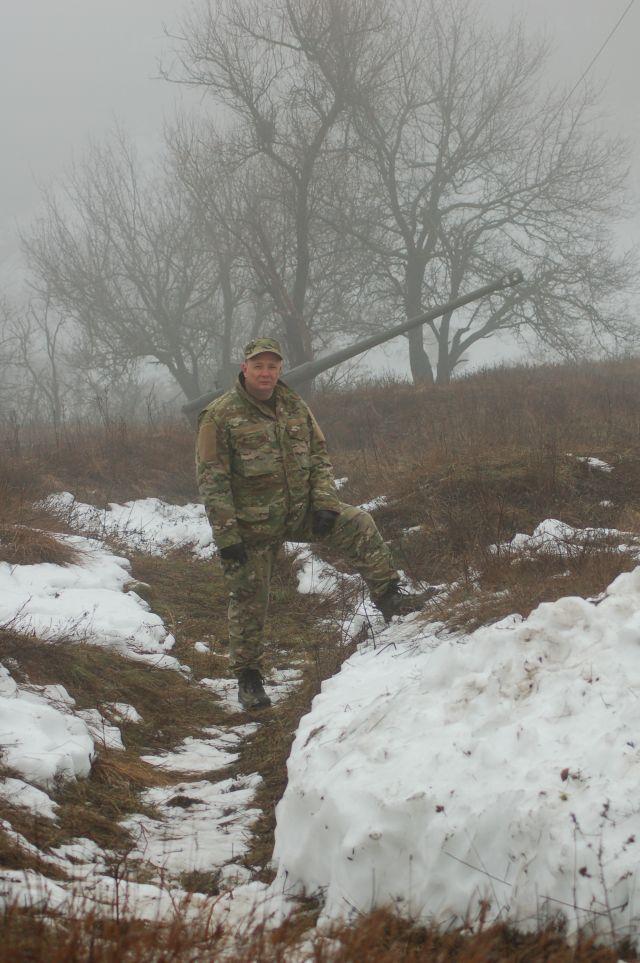 1 Андрей Кудряков на месте сохранившихся с 1943-го немецких  позициях под Ростовом