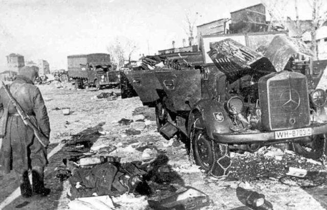 4 Разбитая немецкая колонна
