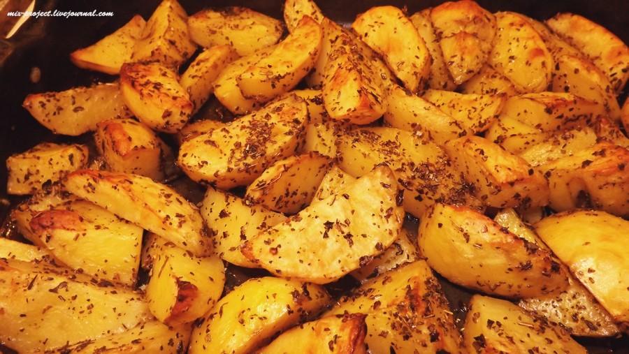 Картофель ломтиками в духовке рецепт с фото