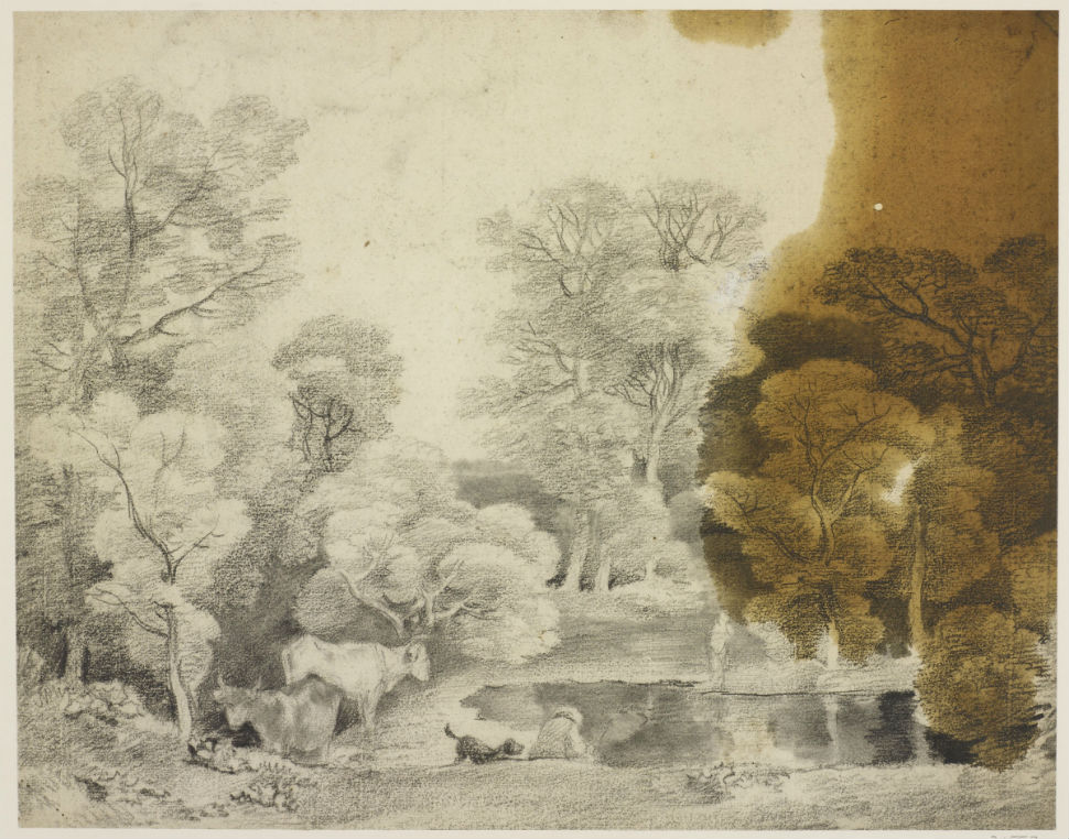 1-Томас Гейнсборо - Деревья у озера (ок. 1755).jpg