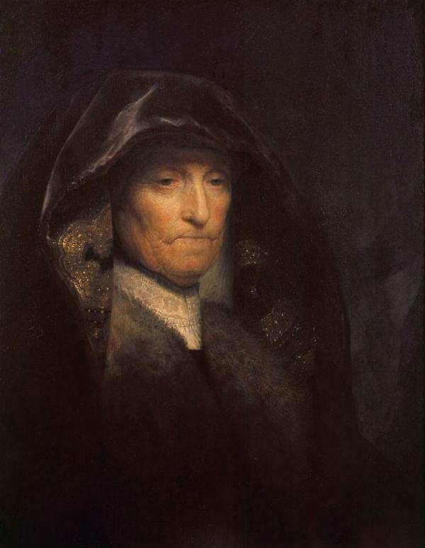 5-Рембрандт Харменс ван Рейн - Портрет матери художника (1629) Королевское собрание  Лондон.jpg