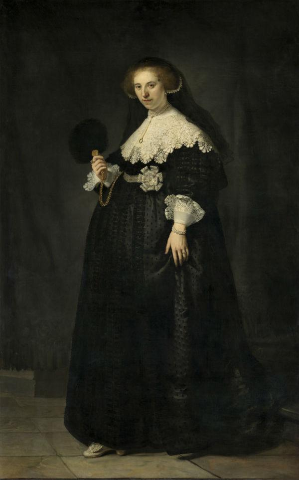 10-Рембрандт Харменс ван Рейн - Портрет Опьен Коппит жены Мартина Солманса - 1634 - Лувр.jpg