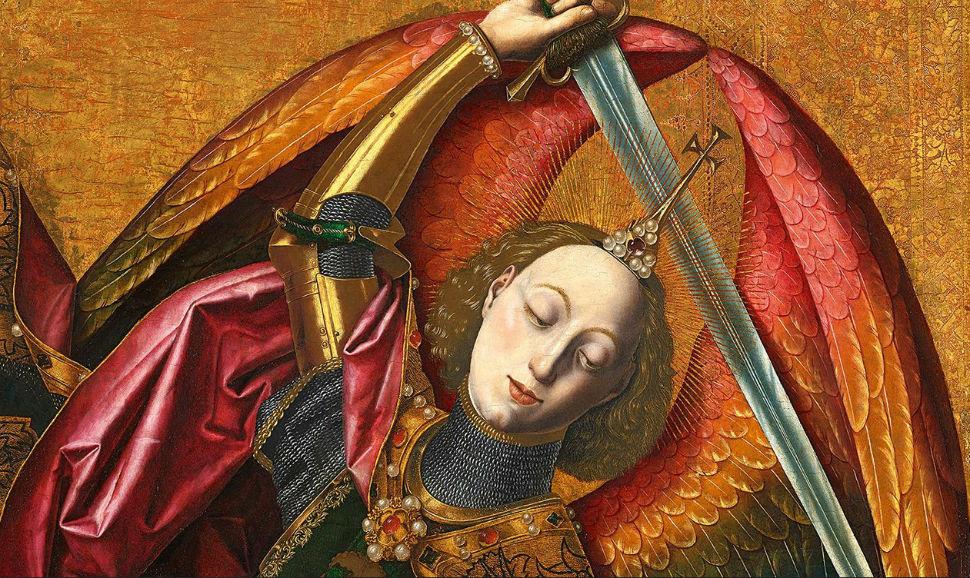 1-Бартоломе бермехо - Святой Михаил Триумф над дьяволом - 1468 (фрагмент).jpg