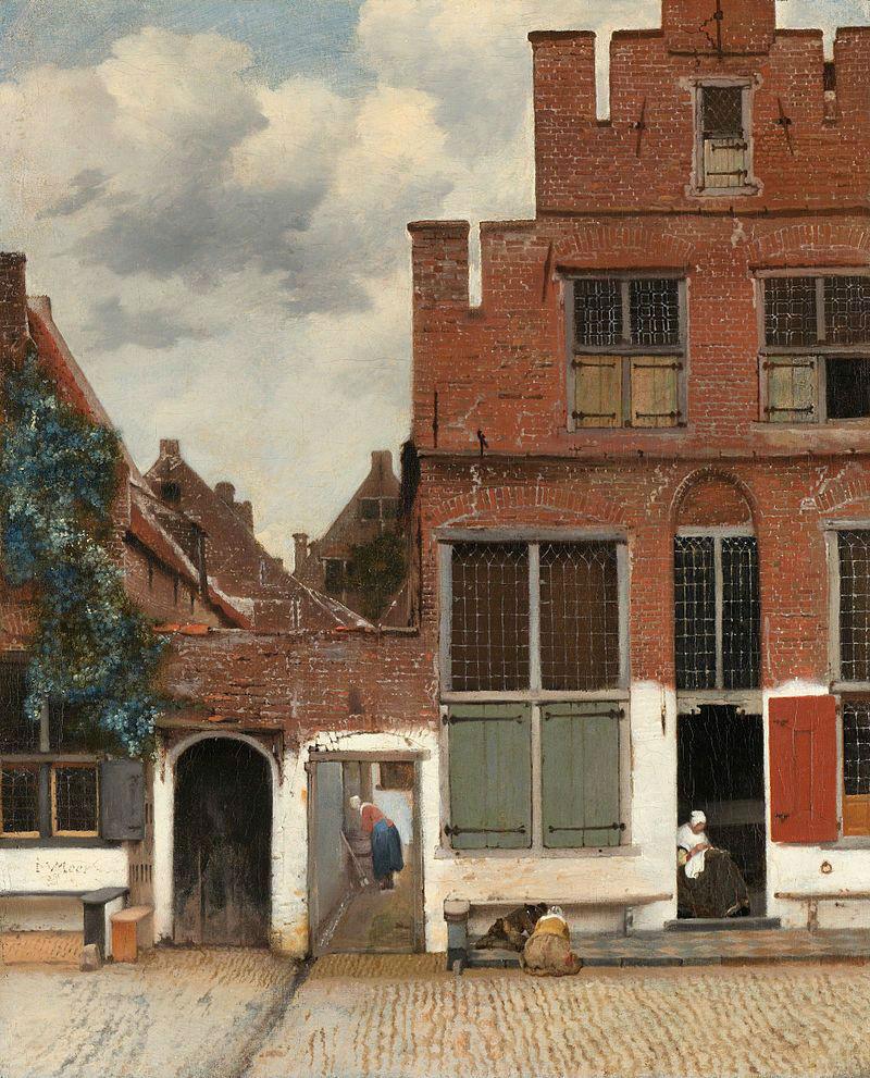 3-Ян Вермеер - Маленькая улочка в Дельфте - 1659.jpg