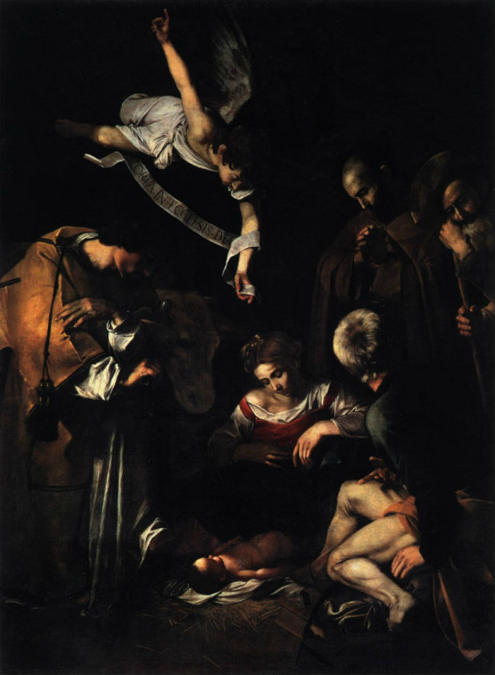 1-Микеланджело Меризи де Караваджо - Рождество со святым Франциском и святым Лаврентием - 1609.jpg