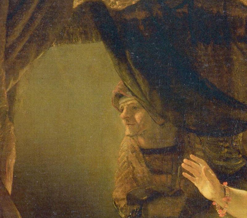 4-Рембрандт Харменс ван Рейн - Даная - 1636 (фрагмент).jpg