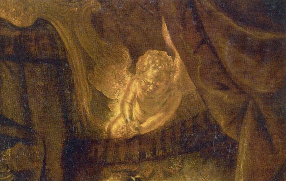 6-Рембрандт Харменс ван Рейн - Даная - 1636 (фрагмент).jpg