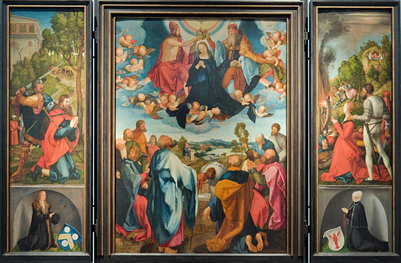 3-Альбрехт Дюрер  - Алтарь Геллера (Алтарь Вознесения Марии) Реконструкция - 1500-е.jpg