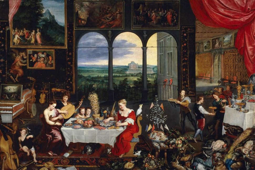 1-Ян Брейгель Бархатный  - Аллегория вкуса слуха и осязания - 1620.jpg