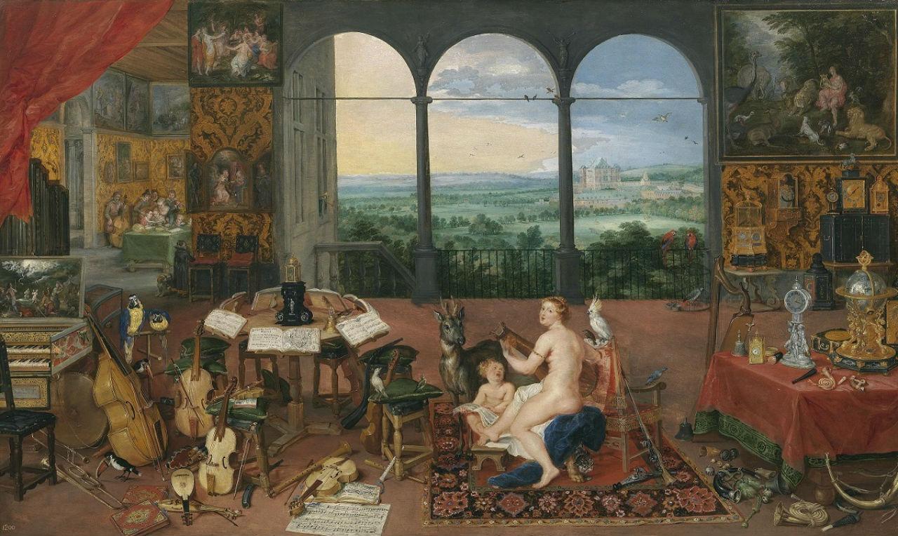 9-Ян Брейгель Бархатный - Аллегория слуха - 1617.jpg