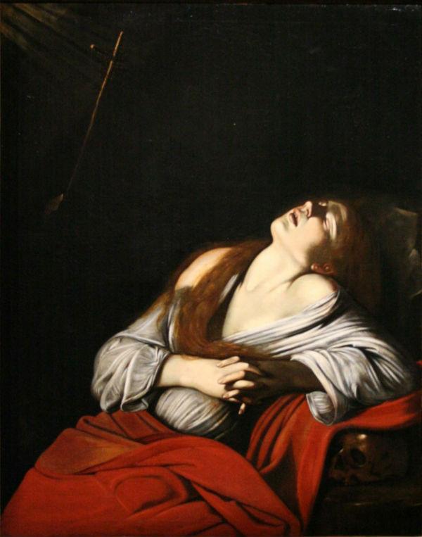 5-Луи Финсон - Экстаз Магдалины (копия с Караваджо) (1610-е) - Музей изящных искусств Марсель.jpg