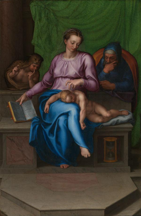 6-Марчелло Венусти - Святое семейство (Безмолвие) - 1565.jpg