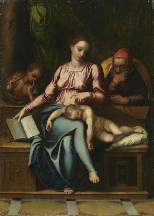 7-Марчелло Венусти - Святое семейство с Иоанном Кркстителем - 1560-е.jpg