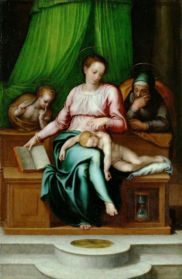 8-Марчелло Венусти - Святое семейство - 1560-е.jpg
