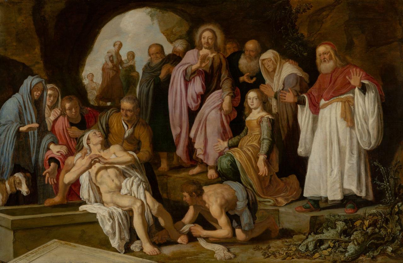 Питер Питерс Ластман - Воскрешение Лазаря - 1622.jpg