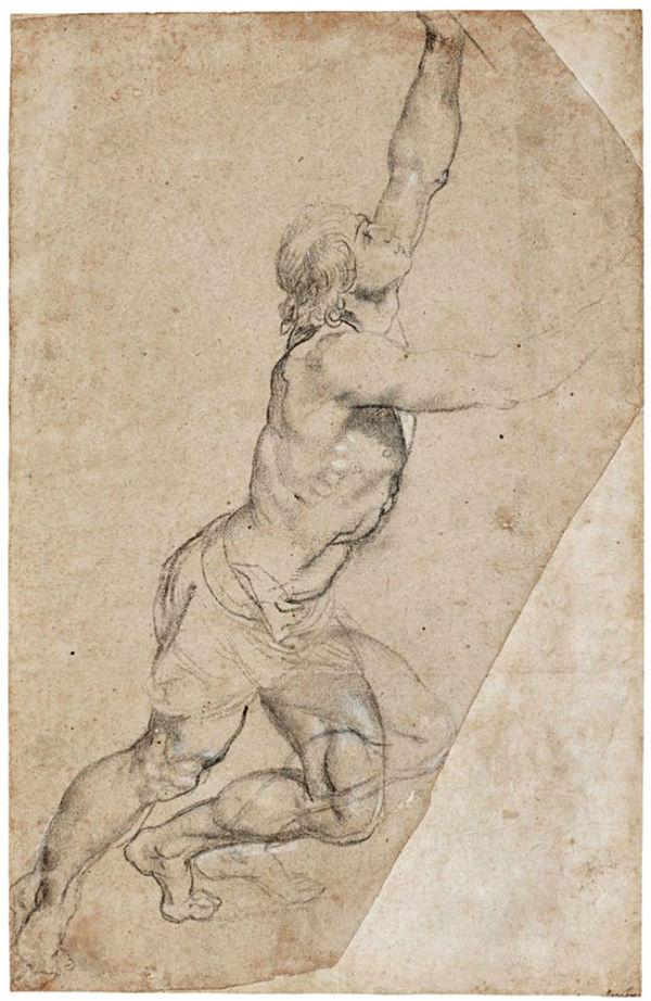 Питер Пауль Рубенс - Набросок обнаженного юноши с поднятыми руками.jpg