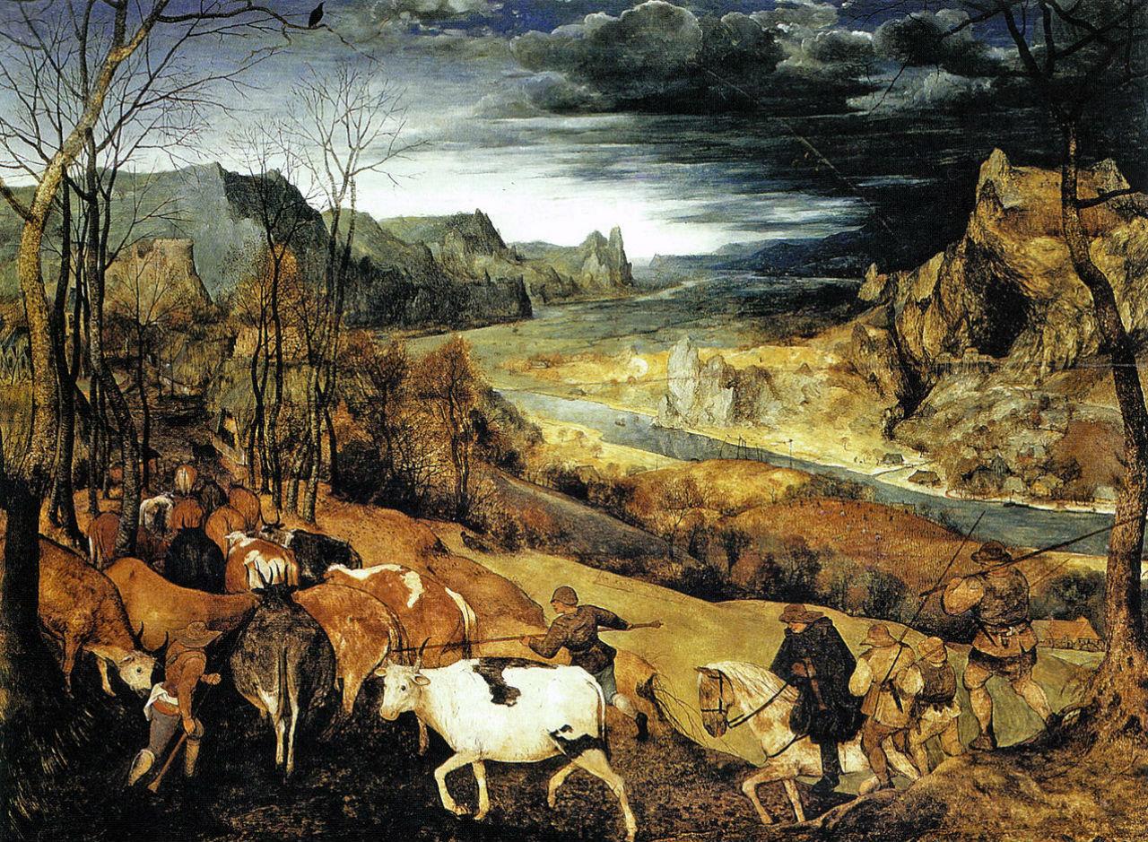 Питер Брейгель Старший - Возвращение стада - 1565 - Музей истории искусств - Вена.jpg
