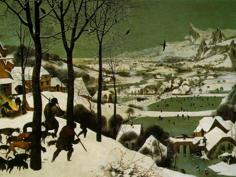 Питер Брейгель Старший - Охотники на снегу - 1565 - Музей истории искусств - Вена.jpg
