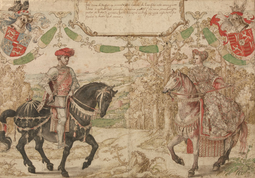 6-Йохан IV из Нассау и его жена Мария ван Лун-Хайнсберг - 1530.jpg