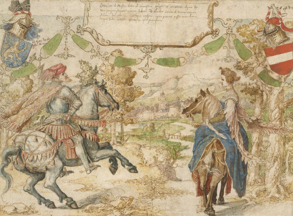 7-Граф Отто из Нассау и его жена Адельхайд ван Вианен - 1535.jpg
