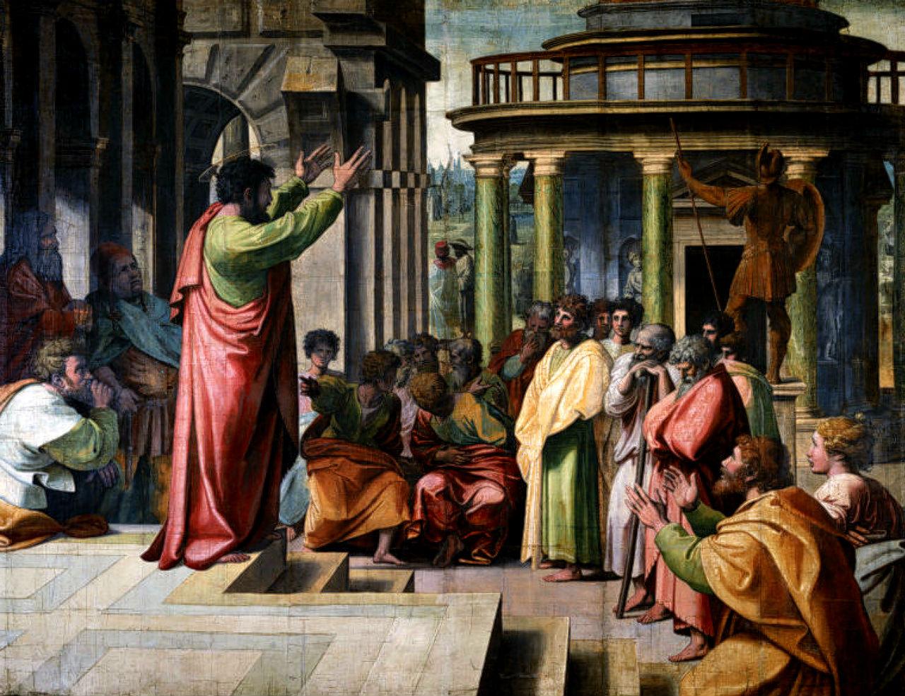 7-Рафаэль - Святой Павел проповедует в Афинах - 1513.jpg