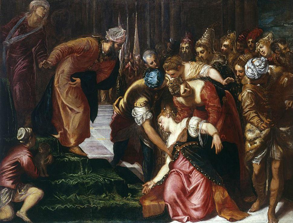 10-Якопо Тинторетто - Эстер перед Агасфером - 1547-1548.jpg