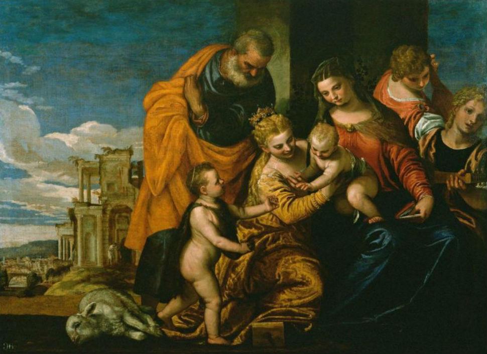 13-Паоло Веронезе - Брак Святой Екатерины - 1580.JPG