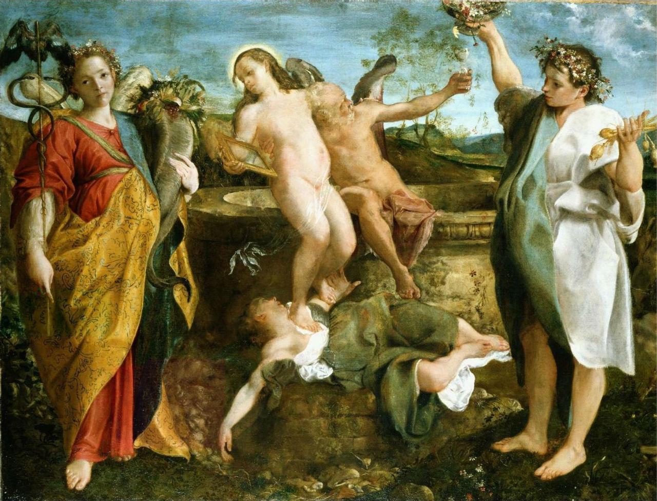 14-Аннибале Карраччи - Аллегория Истины и Времени - 1584-1585.JPG