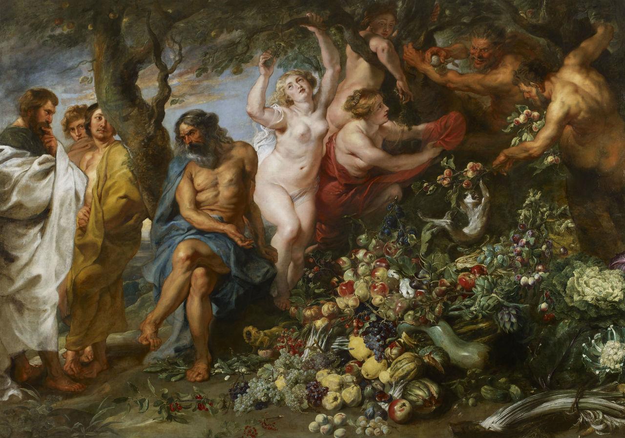 16-Питер Пауль Рубенс - Пифагор выступающий за  вегетарианство - 1618-20.jpg