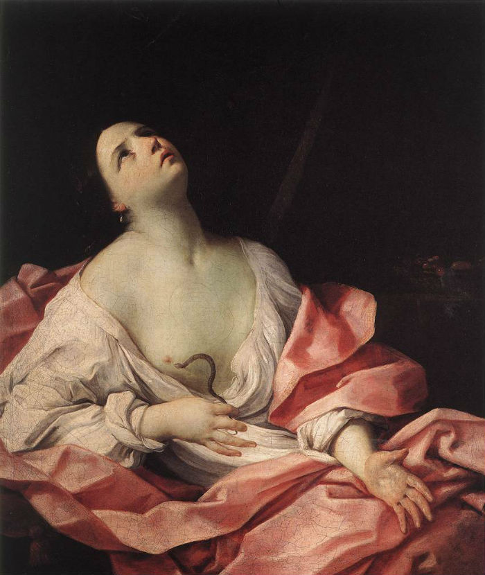 18-Гвидо Рени - Клеопатра со змеёй - 1630.jpg