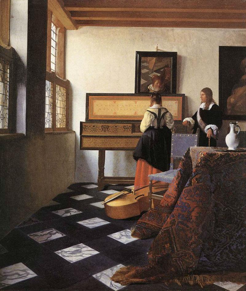 21-Йоханнес Вермеер - Музыкальный урок - 1665.jpg