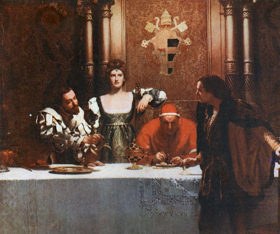 Джон Кольер - Бокал вина от Чезаре Борджиа - 1893.jpg