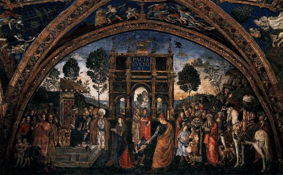 Диспут святой Екатерины - фреска из апартаментов Борджиа.jpg