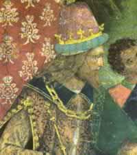 Фрагмент с императором из фрески Диспут святой Екатерины из апартаментов Борджиа (предполагаемый портрет Чезаре Борджиа).jpg
