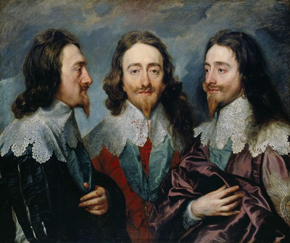 8-Антонис Ван Дейк - Карл I с трёх сторон - 1636.jpg