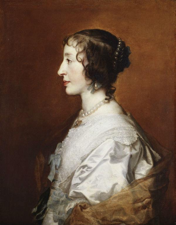11-Антонис Ван Дейк - Генриетта Мария королева Англии - 1638.jpg