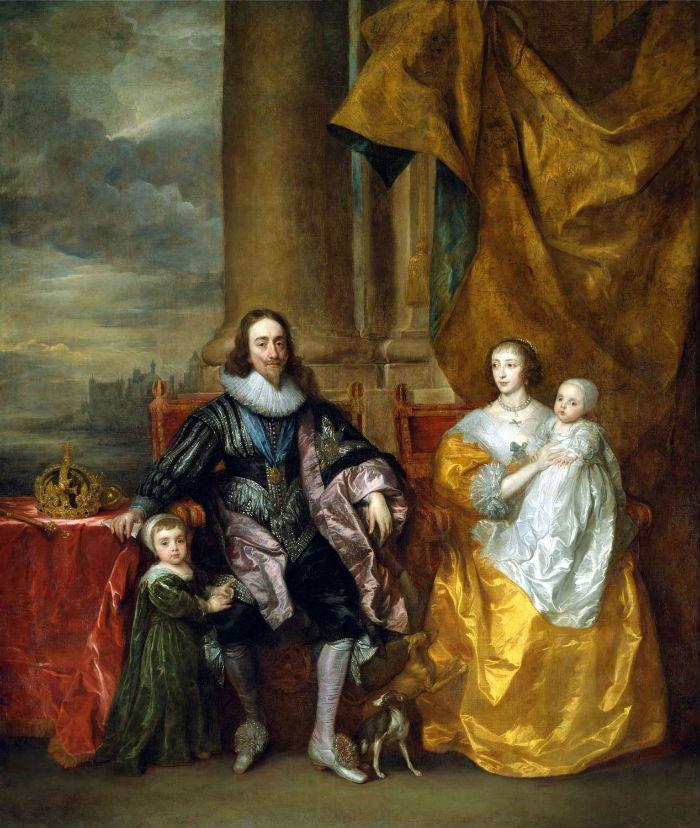 10-Антон ван Дейк - Карл I и его жена Генриетта Мария с их старшими детьми.jpg