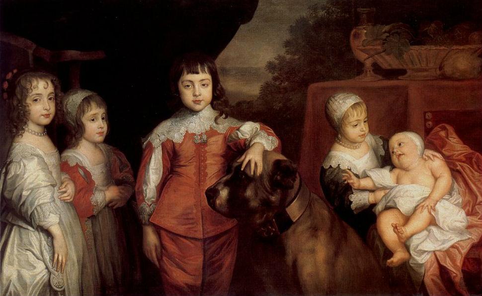 9-Антонис Ван Дейк - Портрет пяти детей Карла I - 1637.jpg