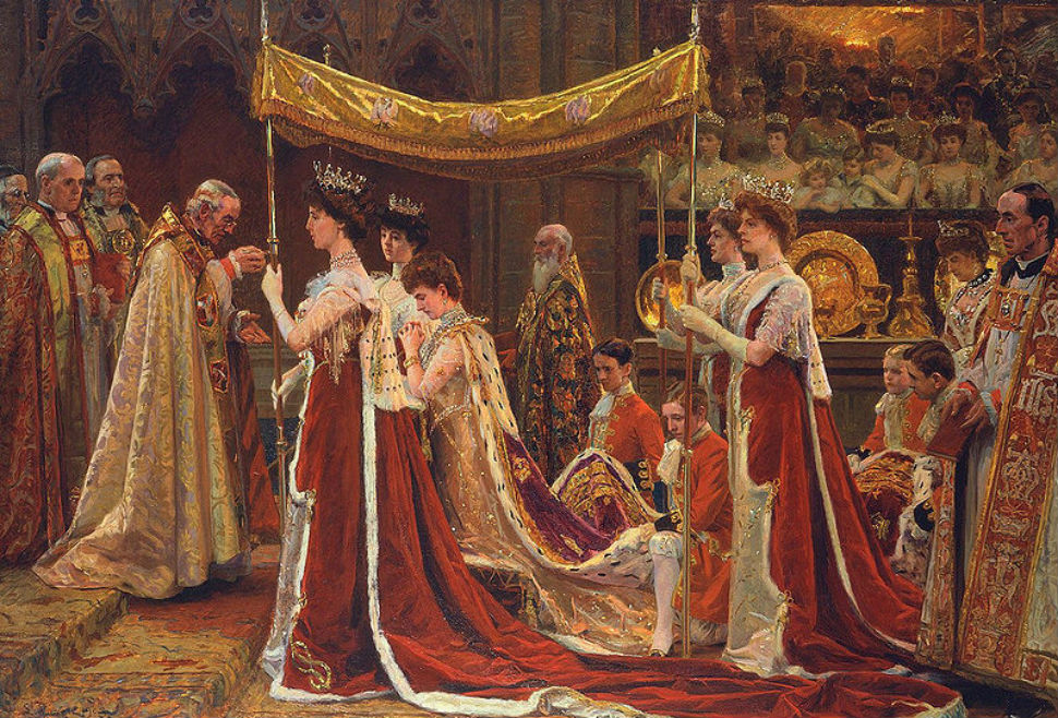 2-Лаурица Регнер Туксен (1853-1927) - Помазание королевы Александры на коронации Эдуарда VII - 1903.JPG
