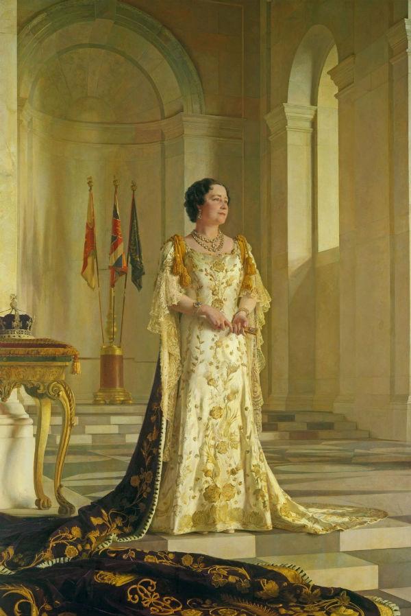 4-Сэр Джеральд Келли (1879-1972) - Елизавета Боуз -Лайон - (1900 - 2002 ) - супруга короля Георга VI - 1938-1945.jpg