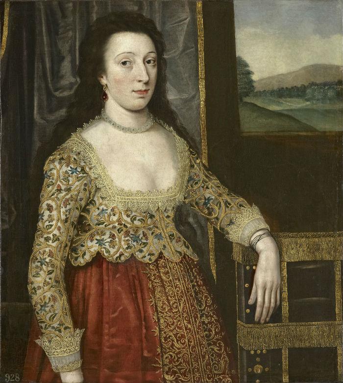 6-Английская школа 17 века - Портрет женщины.jpg