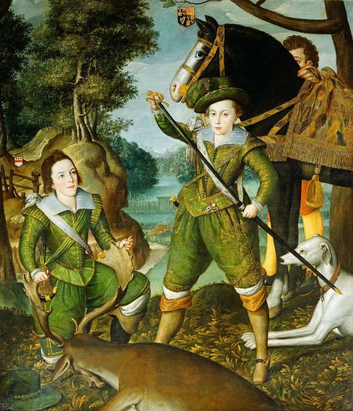 7-Роберт Пик - Генрих принц Уэльский с Робертом Деверо 3-им графом Эссекс на охотничьем поле - после 1605.jpg
