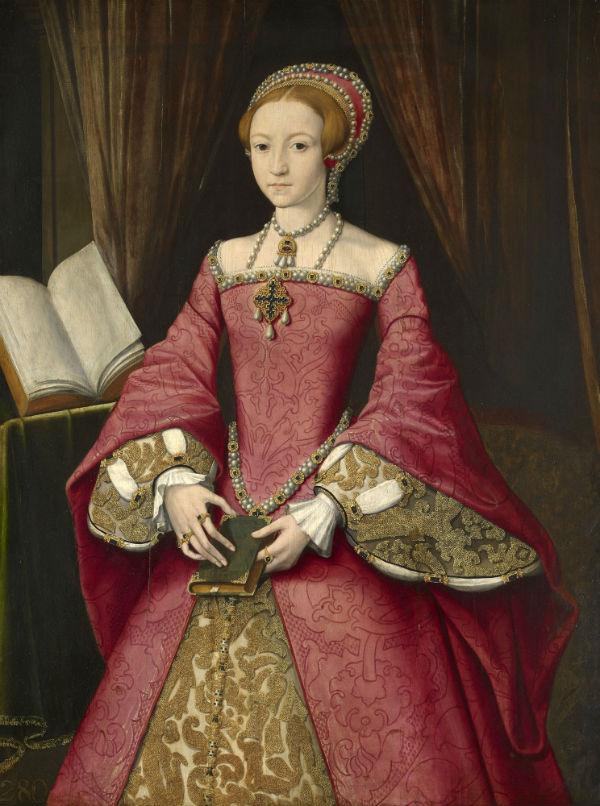 12-Уильям Скротс - Елизавета I в бытность принцессой  - 1546.jpg