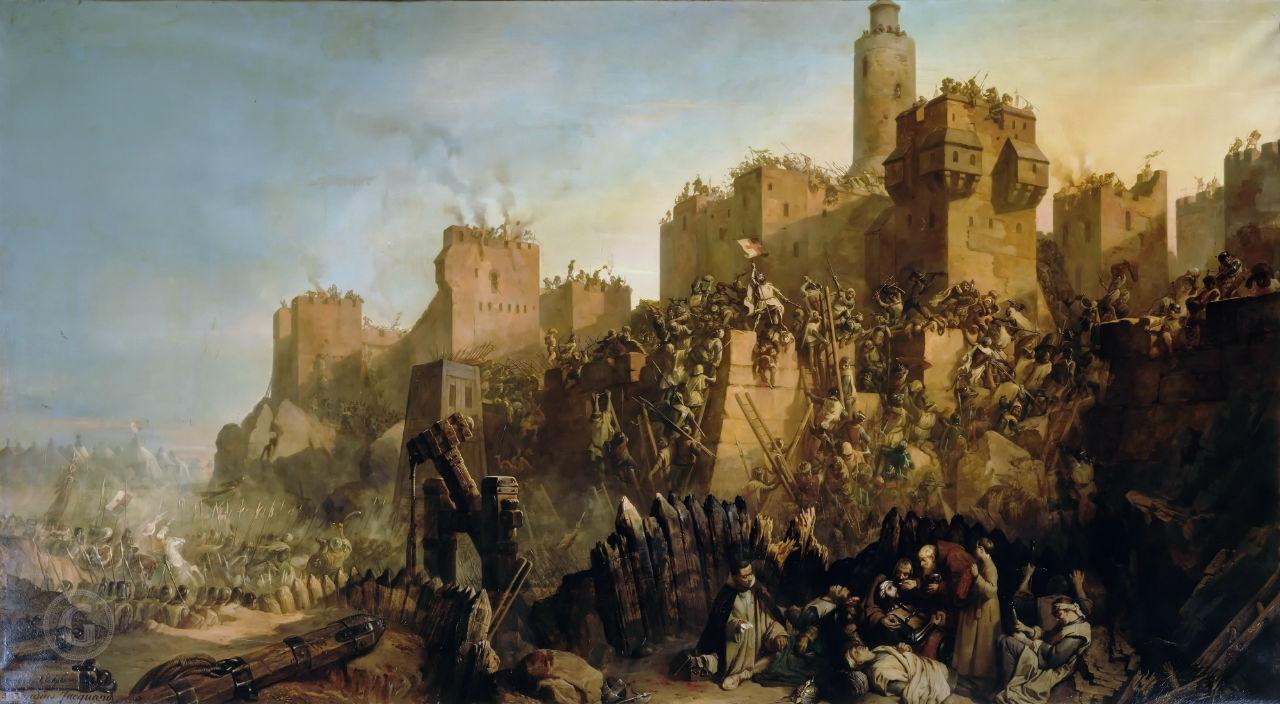 2-Клод Жакан - Взятие Иерусалима гроссмейстером ордена тамплиеров Жаком де Моле в 1299 году.jpg
